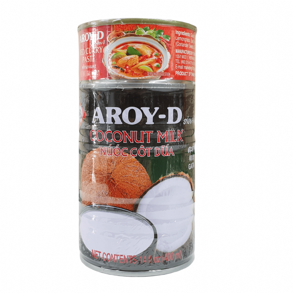 Aroy-D Coconut Milk & Red Curry Paste 400ml